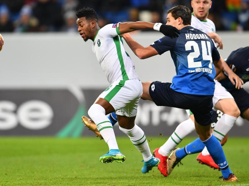 Die TSG Hoffenheim verabschiedet sich mit einem 1:1 gegen Ludogorez Rasgrad aus der Europa League. Foto: Uwe Anspach