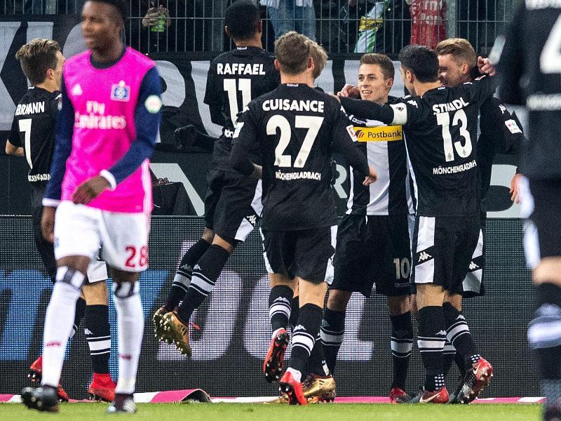 3:1 gewann Gladbach im eigenen Stadion gegen den Hamburger SV. Foto: Marius Becker