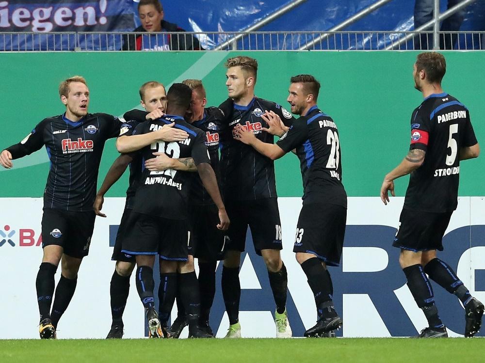 Der SC Paderborn steht erstmals im Pokal-Viertelfinale