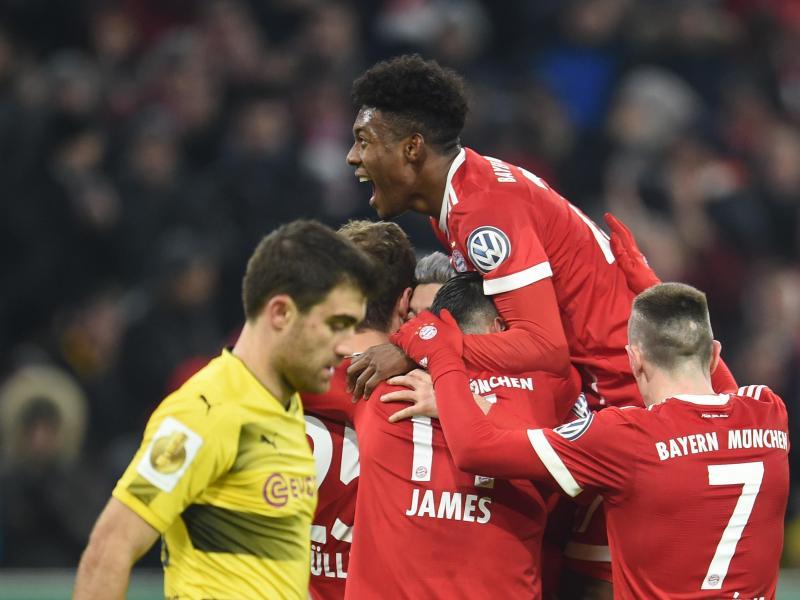 Der FC Bayern kegelt Borussia Dortmund aus dem DFB-Pokal. Foto: Andreas Gebert