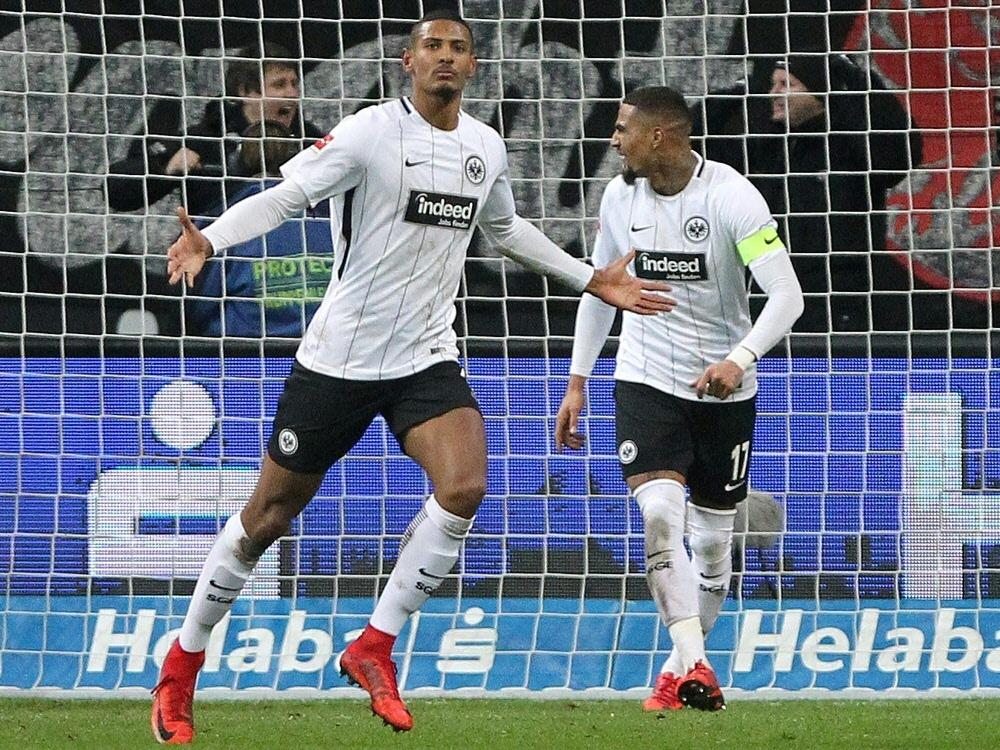 Sebastien Haller erzielte das 1:0 für die Eintracht