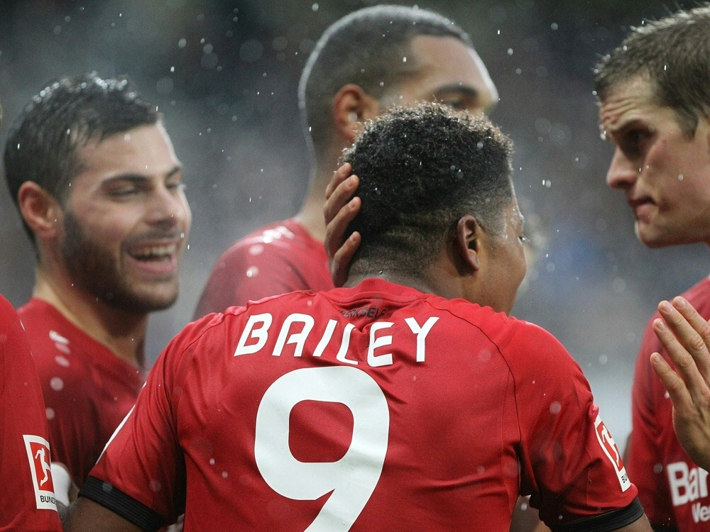 Bailey erzielte den ersten von vier Treffern für Bayer