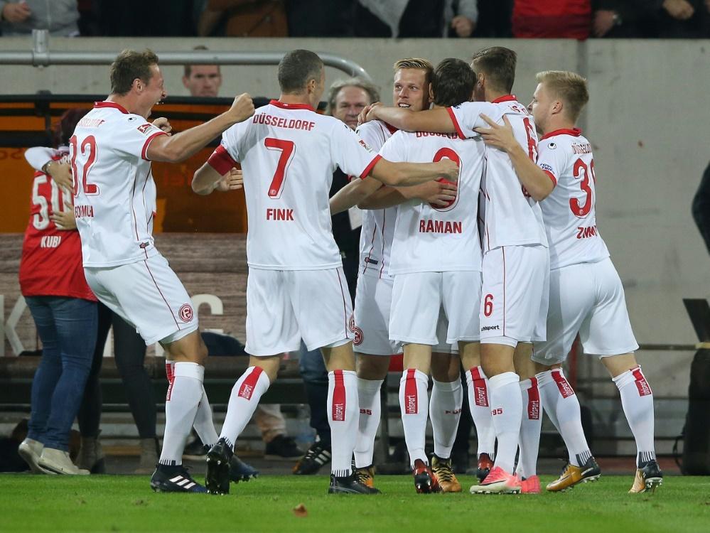 Fortuna Düsseldorf gewinnt mit 1:0 gegen Sandhausen