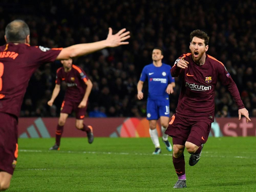 Messi trifft - Barcelona mit Unentschieden in London