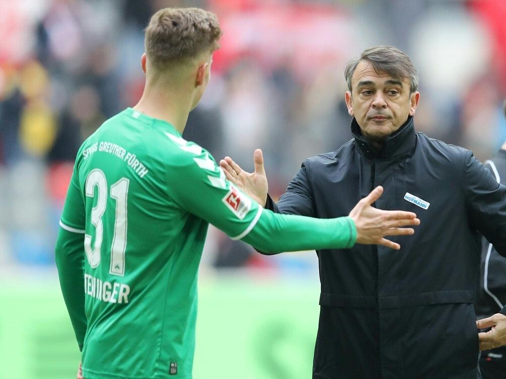 Damir Buric bejubelte den 2:1-Sieg über Kaiserslautern