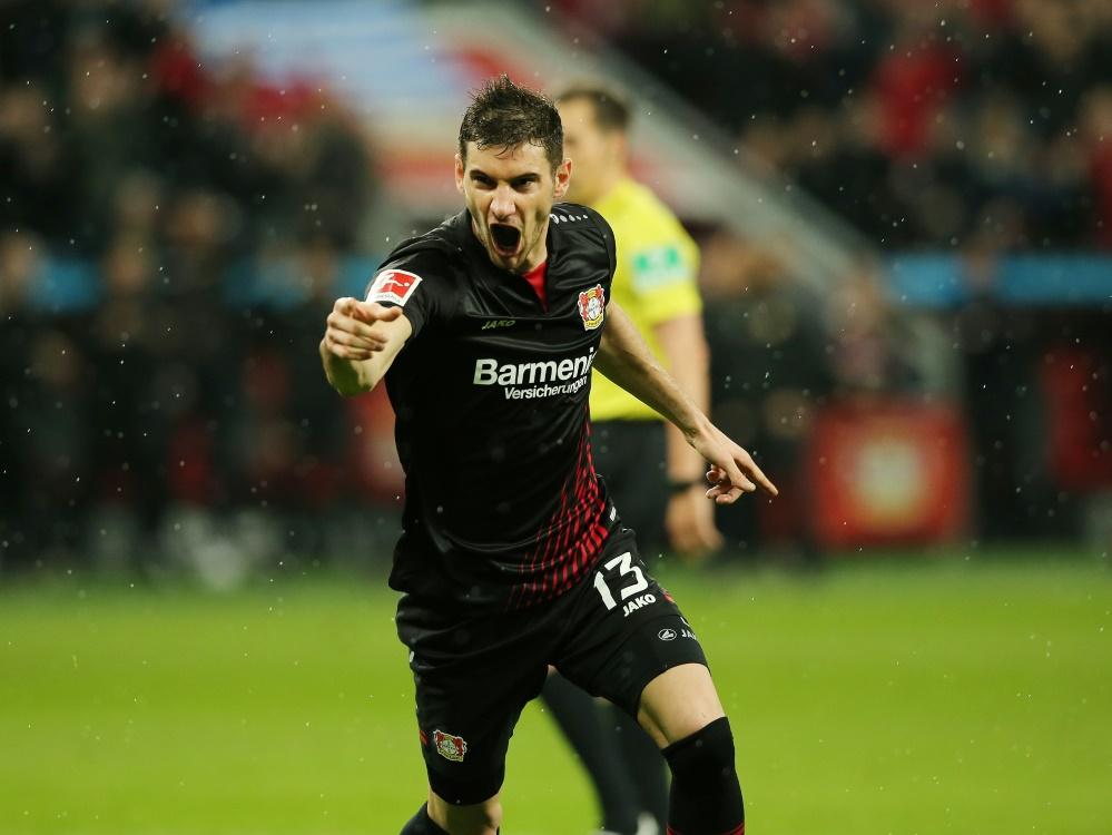 Lucas Alario bringt Bayer 04 auf die Siegerstraße