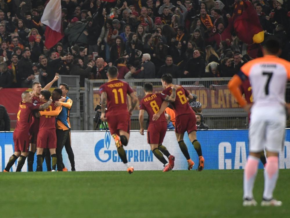Die Roma bejubelt den Einzug ins Viertelfinale