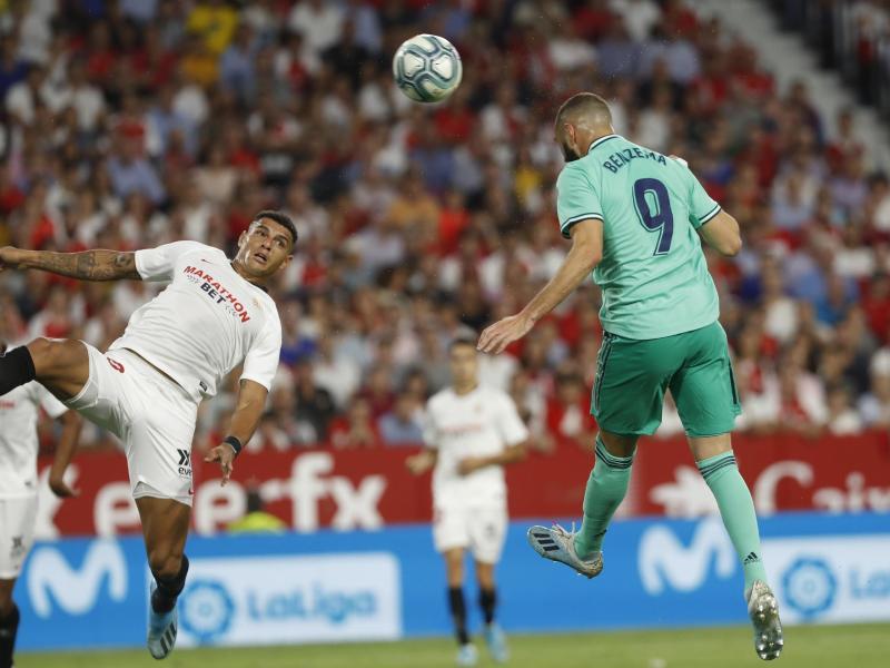 Karim Benzema (r) erzielte das einzige Tor des Tages. Foto: Miguel Morenatti/AP