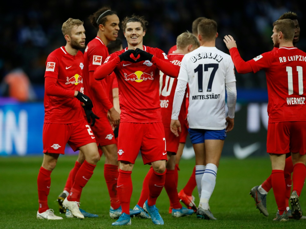 RB Leipzig feiert in Berlin den vierten Sieg in Serie
