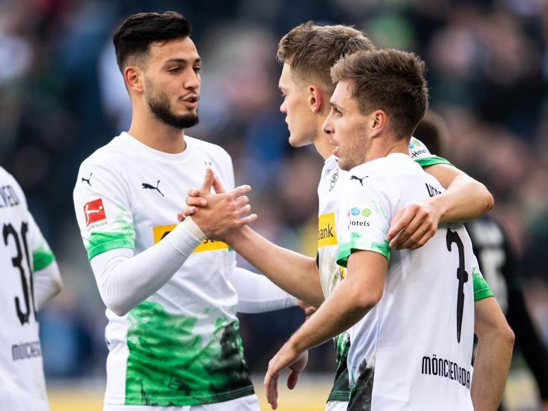 Patrick Herrmann traf doppelt für Mönchengladbach. Foto: Marius Becker/dpa