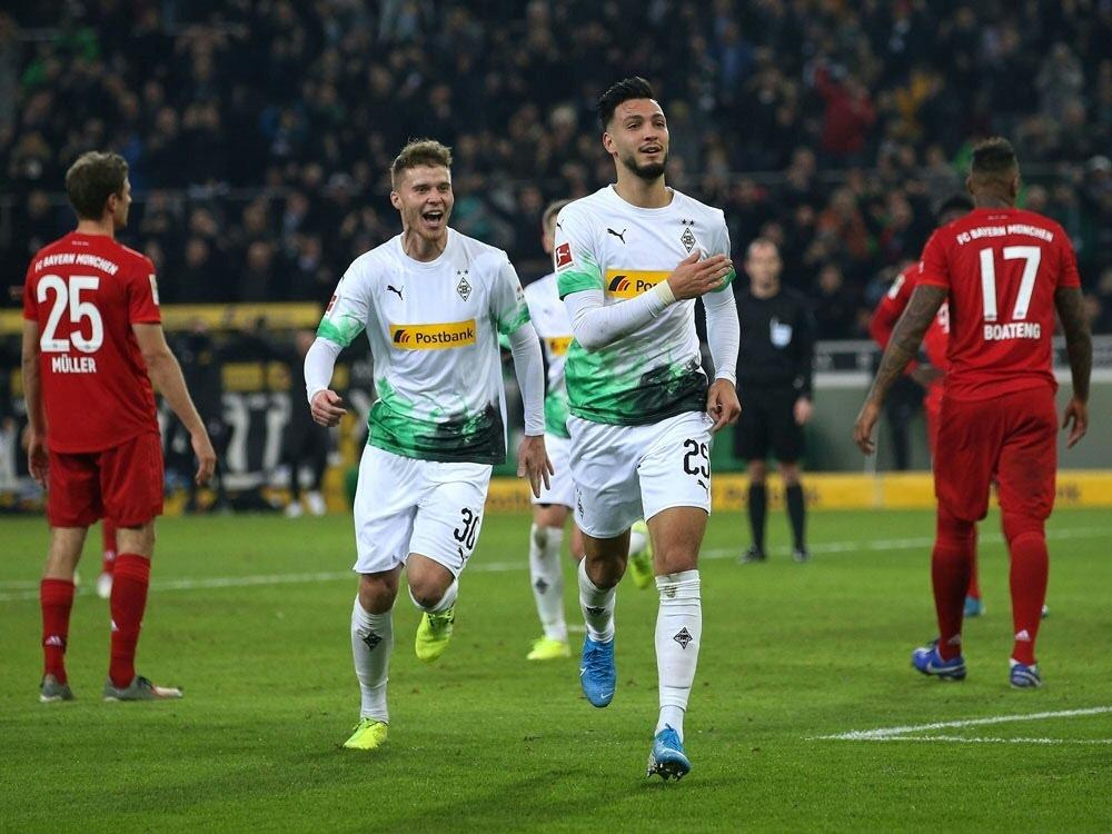 Borussia Mönchengladbach schlägt die Bayern mit 2:1