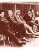 Die deutsche Trainerbank während der WM. In der Mitte: Bundestrainer Otto Nerz