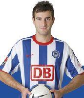 Sein erstes Hertha-Tor ebnete den Weg zum Hinspielsieg:<br>Maximilian Nicu