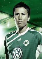 Eher selten unter den Wolfsburger Torschützen zu finden: Der per Kopfball erfolgreiche Makoto Hasebe